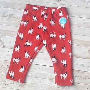 Carters Graphic Fleece Leggings with Dogs
